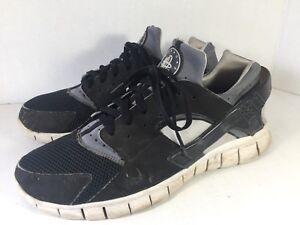 Nike-Huarache-Free-2012-Black-White-Grey-Men-Sz-11-487654-012