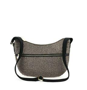 BORBONESE LUNA BAG SMALL Borsa Donna Tracolla Naturale con Tasca 16bagsandshoes