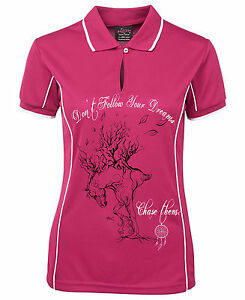 HEELS-DOWN-CLOTHING-LADIES-COOLDRI-DREAM-COLLECTION-POLO-CHASE-DESIGN