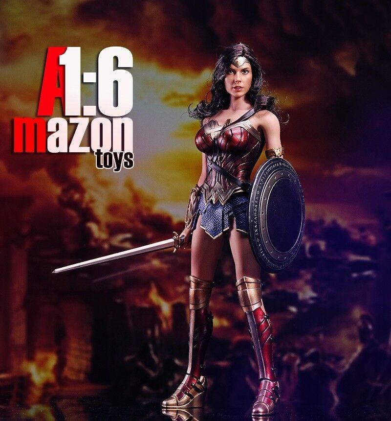 1/6 AMtoys Amazon Warrior Wonder Woman Diana Prince Gal Gadot Female Figure New