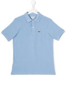 6632c198 Lacoste Short Sleeve Polo Kids Boy Blue Fjord Model 100% cotton new ...