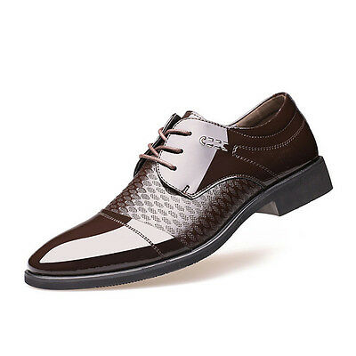 New Men's Dress Formal Oxfords Leather shoes Business Casual Shoes Pointy toe