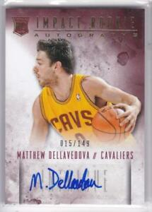 2013-14-Panini-Intrigue-Impact-Rookie-RC-Matthew-Dellavedova-Auto-149