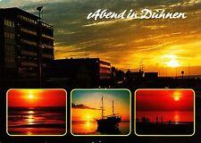 Abend in Cuxhaven - Duhnen , Ansichtskarte , 1995 gelaufen