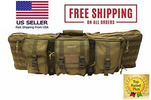 900D Double Tactical Scoped Rifle Gun Range Soft Case Pistol Carry Bag Backpack