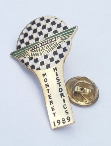 ASTON MARTIN MONTEREY HISTORICS 1989 RARE PIN BADGE