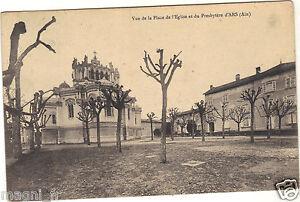 01-cpa-Vue-de-la-place-de-l-039-eglise-et-du-presbytere-d-039-ARS-i-4639