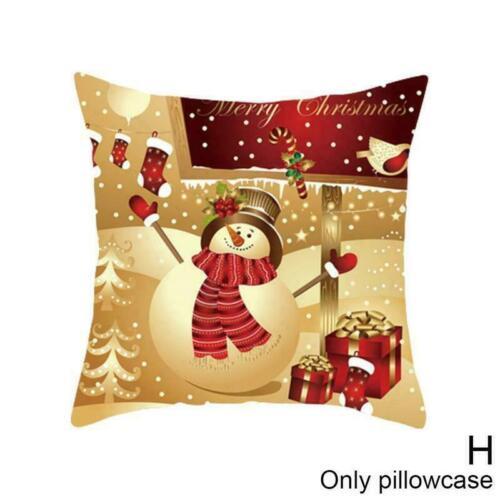 "18 /""Weihnachten Kissenbezug Sofa Kissenbezug Home Decor M3I7"