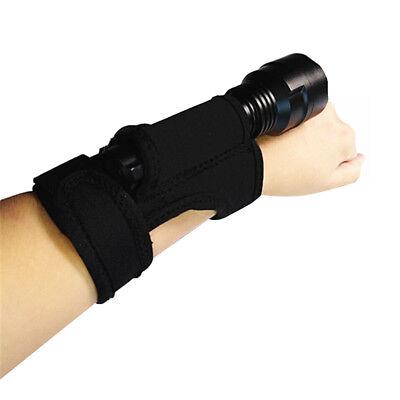 MagiDeal Underwater Scuba Diving LED Torch Flashlight Holder Glove Hand Free