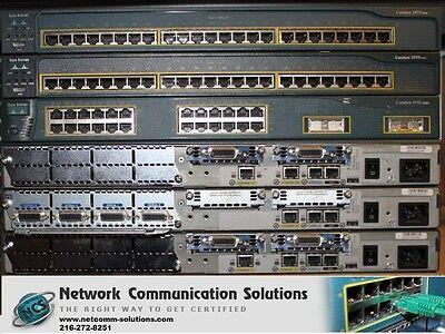 CISCO 2610XM 2620XM SDM CME 4.1 Routers 2950 Switches CCNA CCNP LAB WTY