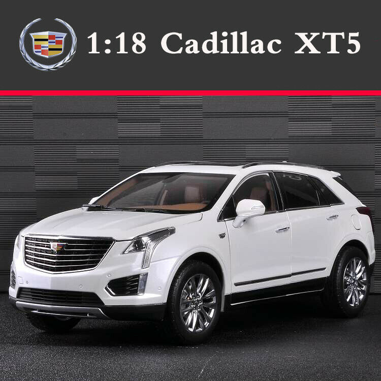 Original 1 18 Scale CADILLAC XT5 SUV White Diecast Alloy Model Cars Collection