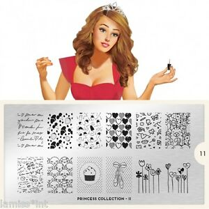 MoYou-London-PRINCESS-11-Collection-Stamping-Schablone-XXL-Schrift-Herz-Muffin