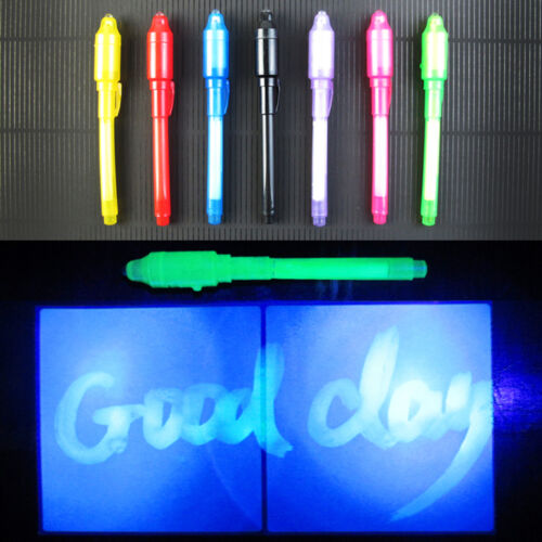 UV-Licht Stift unsichtbare Tinte Sicherheit Markierstift violett LED Pen
