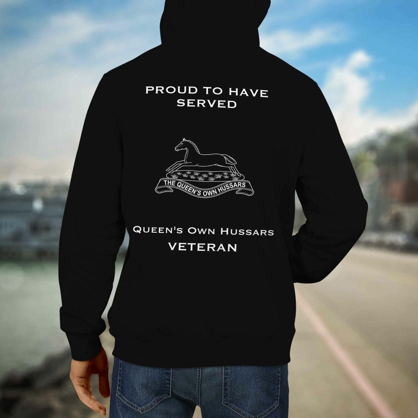 Queens Own Hussars Premium Veteran Hoodie (123)
