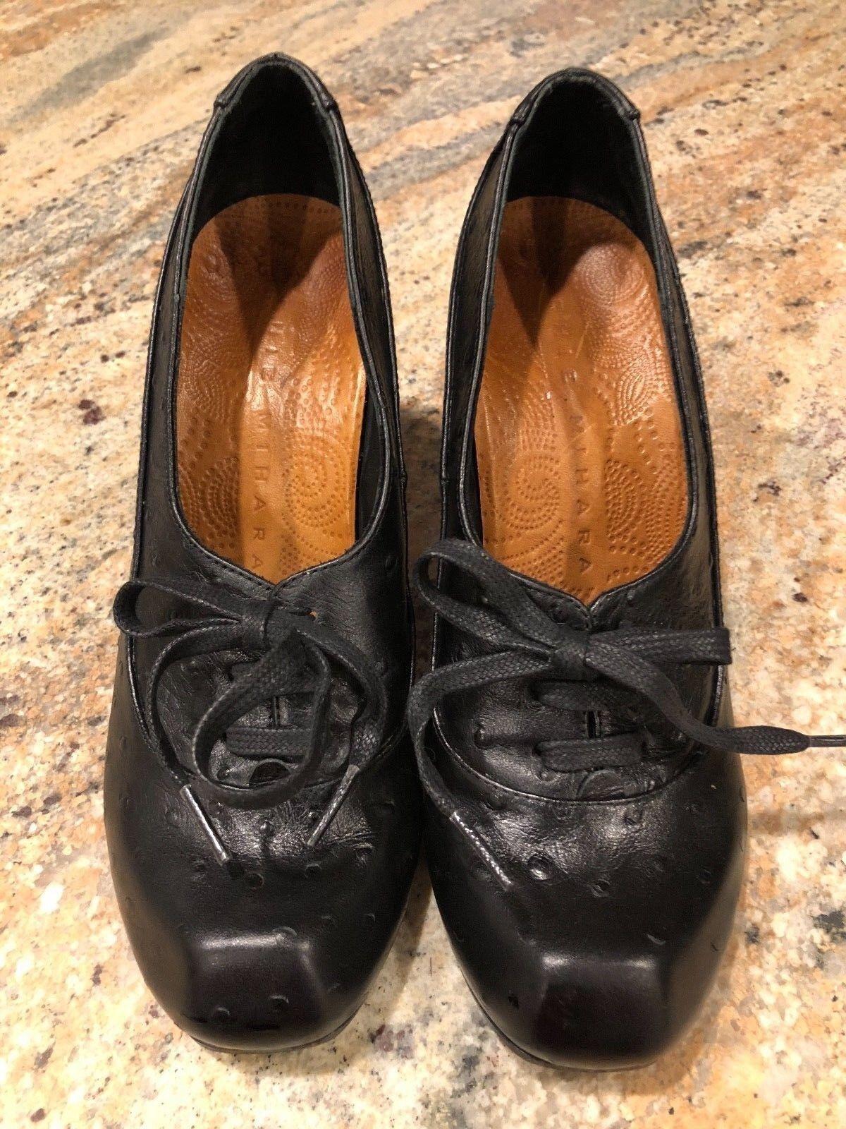 BIRKENSTOCK SAITAMA Leather PENNY LOAFER Nero 6.5 Size 37 6 - 6.5 Nero US Narrow NEW c00de5