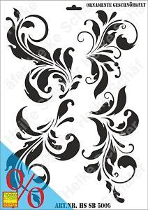 Schablone-Stencil-A3-156-5006-Ornament-Geschnoerkelt-Neu-Heike-Schaefer-Design
