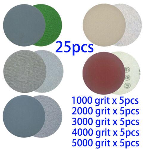 20x 3/'/' 75mm Schleifscheibe 1000-3000 Streugut Polieren Schleifer Pad Sandpapier