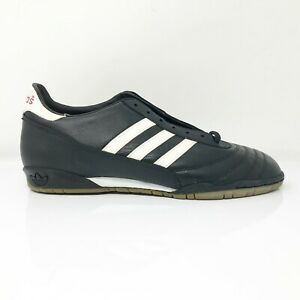 Adidas Mens Beckenbauer Goal Black Running Shoes Lace Up Low Top Size 10.5