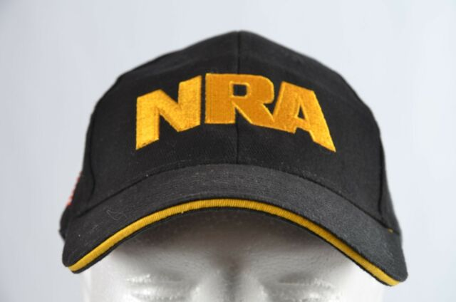 NRA Baseball Cap Hat National Rifle Association USA Flag Black Gold  Embroidered 32bb0826398