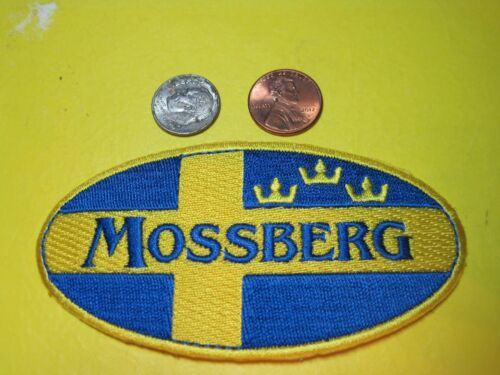MOSSBERG FIREARMS VEST PATCH 2 X 4 INCH SEW ON  GUN PATCH (HOOK BACK AVAILABLE)