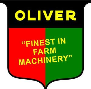 m127 1 4 oliver tractor logo sheild vintage tractor decal sticker rh ebay com Oliver Tractor Logo Coloring Page Oliver Tractor Decals