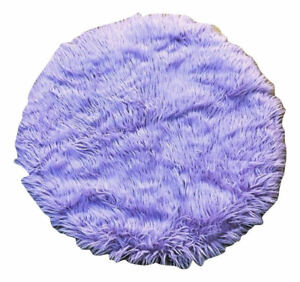 Image Is Loading Lavender Gy Faux Fur Round 34 034 Rug