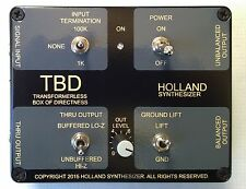 Active Direct Box Model TBD by Holland Synthesizer DI Box Super Quiet!