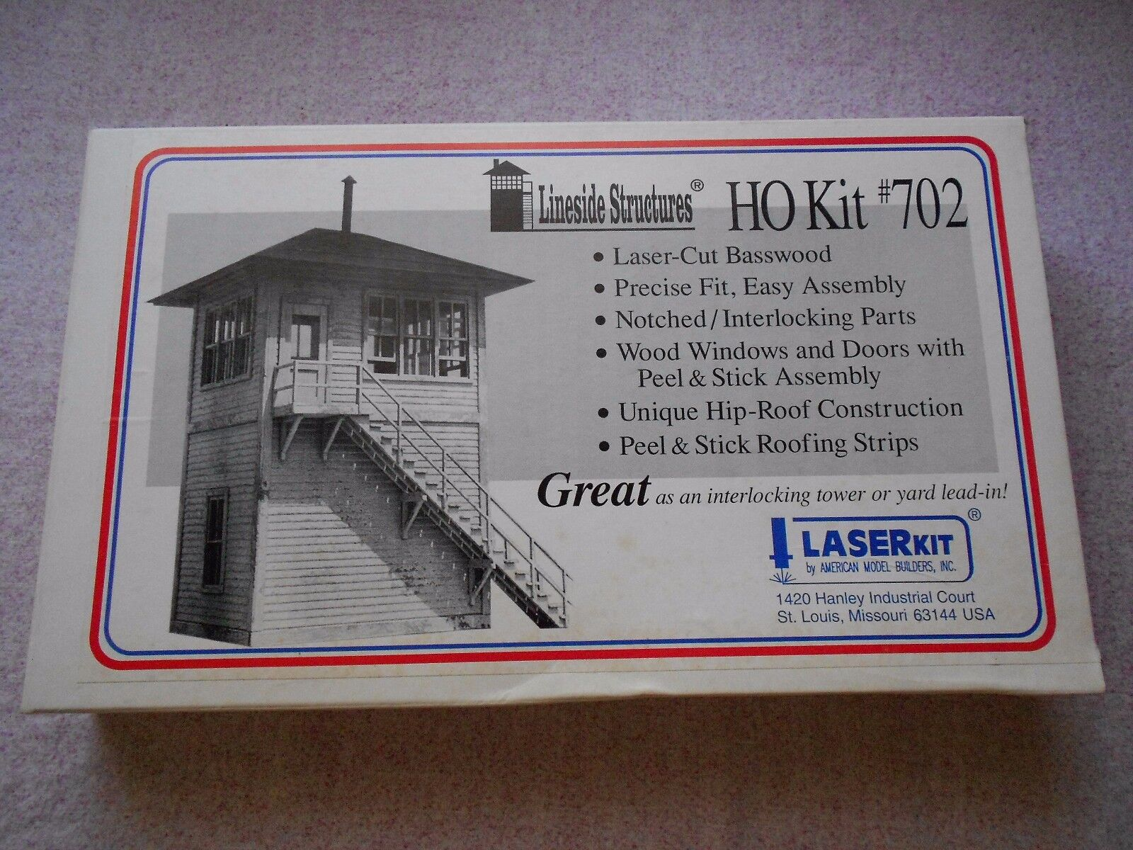 LASER KIT INTERLOCre TOWER HO GAUGE WOOD KIT NIB
