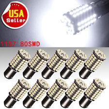 10x 6000K HID White 1157 BAY15D 80-SMD LED Car Tail Brake Stop Light Bulbs 12V