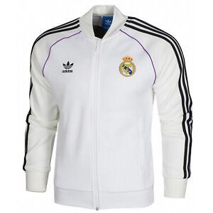 Détails sur Adidas Originals FC Real Madrid Full zip Homme Superstar Veste Track Top BQ3226 afficher le titre d'origine