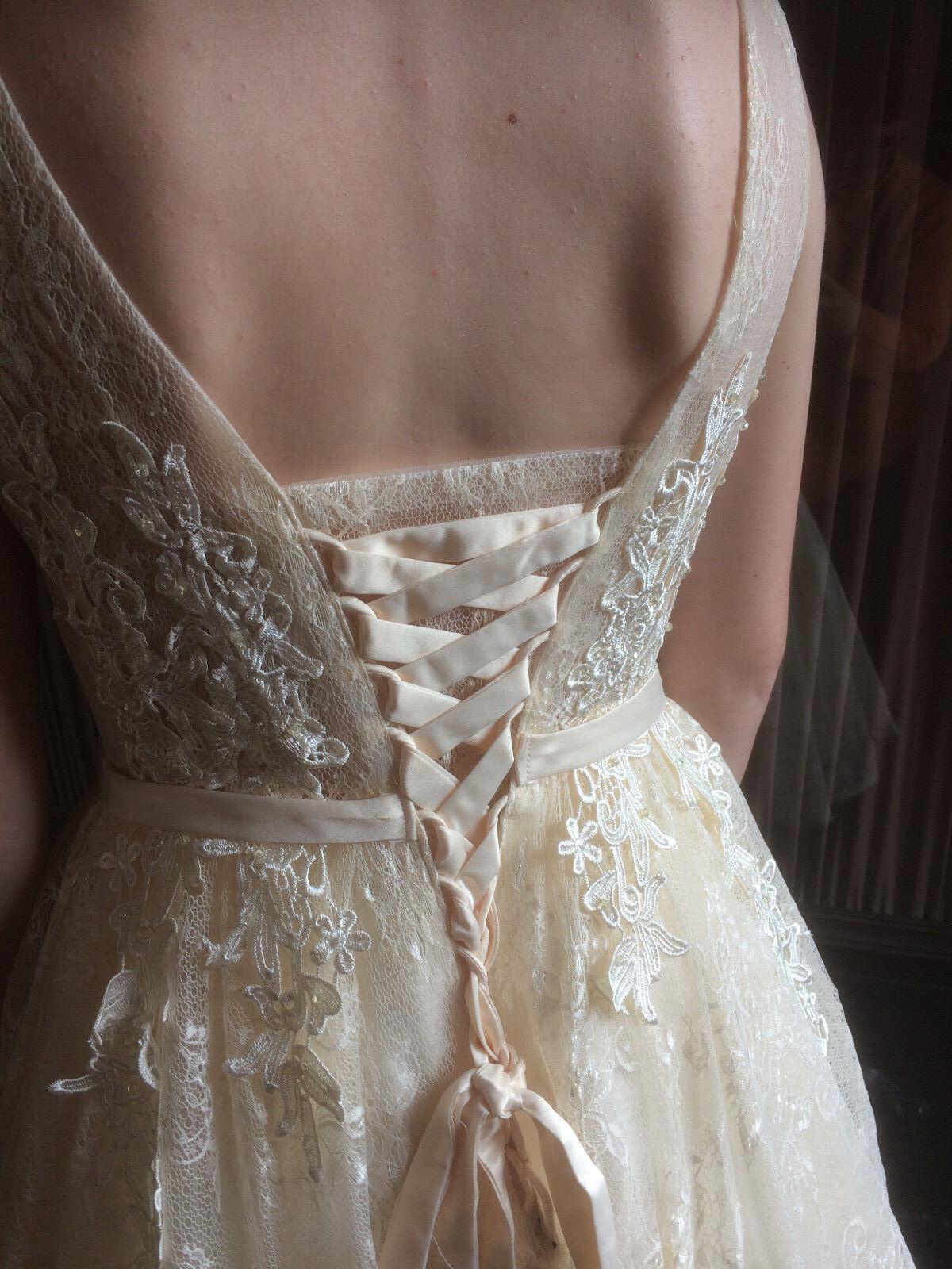 Brautjungfernkleid Jugendweihekleid Champagner Fashion Diva Gr. S M M M Neu 2dcd27