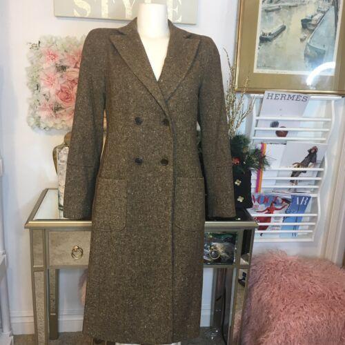 Studio Brun Størrelse Langt Frakke 10 Nwt Tweed 298 Jakke Max Monteret S5x1fq