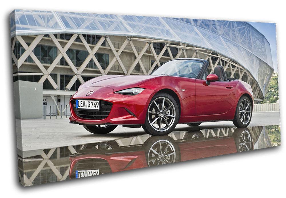 Mazda MX-5 Sports Japanese Cars SINGLE TOILE murale ART Photo Print