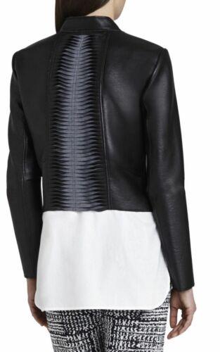 Bondé Lloyd En Maxazria Bcbg Xs Blazer Noir Femmes Nwt248 Multicouche Cuir Pour UVqSzGMp