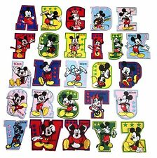 "Mickey Mouse Entire Alphabet 3"" Tall Embroidered Iron On Patch Set of 26 Patches"