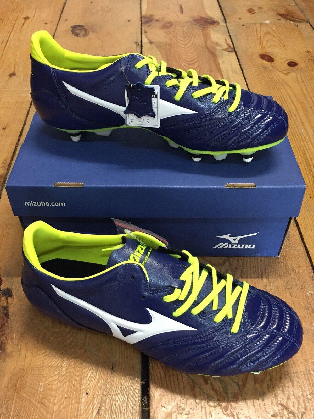 Mizuno Morelia Neo KL mezcla de cuero botas de fútbol-UK Talla 8  Totalmente NUEVO