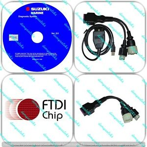 Details about Diagnostic USB Cable Kit for Suzuki SDS 8.30 Outboard on
