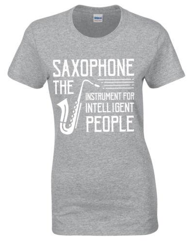 Saxophon T-Shirt Damen S-2XL Musiker Jazz Damen Liebhaber Geschenk Geschenk Idee