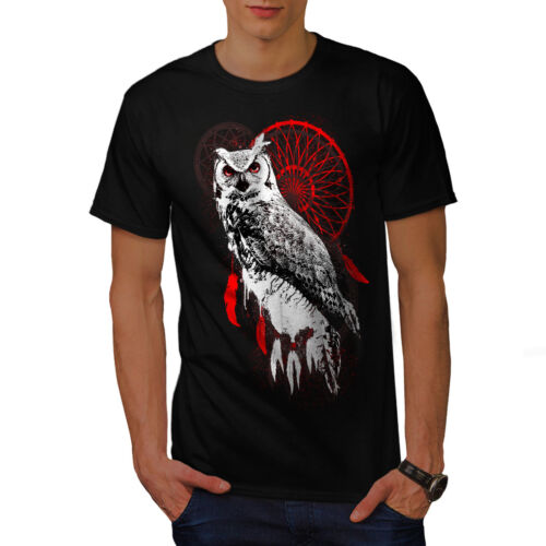 Bird Graphic Design Printed Tee Wellcoda Dream Catcher Owl Animal Mens T-shirt