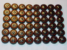 Hot Wheels Redline Red Line WHEEL TIRE Lot of 48 LARGE Cap Style -NICE!