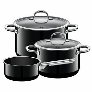 Silit Topf Set 3 Teilig Passion BlackMade In Germany