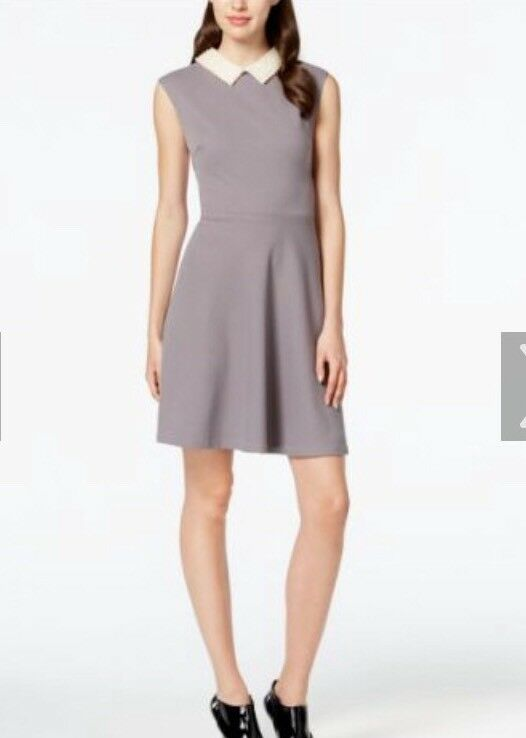Betsey johnson Ladies Dress With Pearl  Detail Detail Detail Collar  Nwts  Size 10 dc65ec