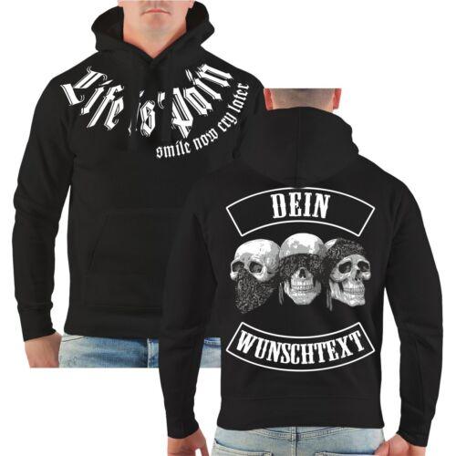 Kapuzenpullover WUNSCHNAME individuell PATCH Brotherhood Biker Streetwear Hoodie