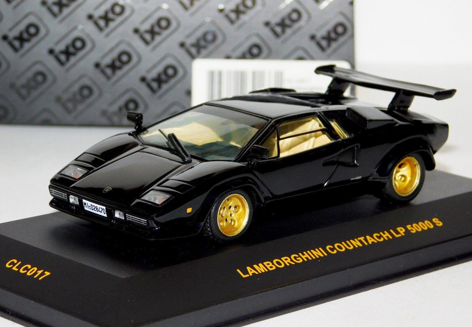 1 43 Ixo Model Lamborghini Countach Lp 5000 S Black Clc017 For Sale