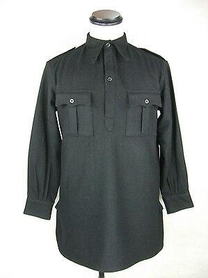 WW2 Italy Italian Army Black Flannel Shirt Top Flannel