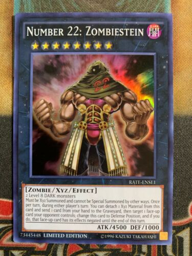 Yugioh Number 22 Zombiestein RATE-ENSE1 Super Rare Limited Edition