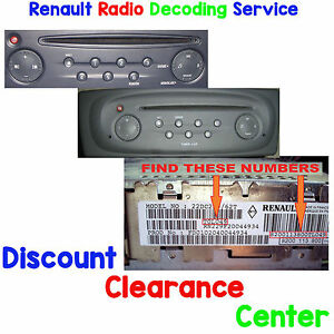renault clio 01 07 mk2 factory tuner update list car radio stereo unlock code ebay. Black Bedroom Furniture Sets. Home Design Ideas