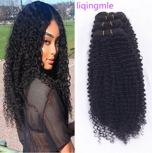 3-bundles-Kinky-Curly-human-hair-Brazilian-Virgin-hair-bundles-weave-Extensions