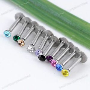 10pc-CZ-Crystal-Steel-Monroe-Labret-Tragus-Lip-Bars-Rings-Stud-Bioflex-Bar