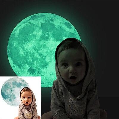 30cm Luminous Moon Glow in the Dark Wall Stickers Moonlight Home Decor DIY Room